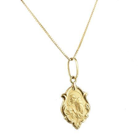 Pingente em ouro amarelo 18k ornato, mini, sem pedra, oco PC 4.56