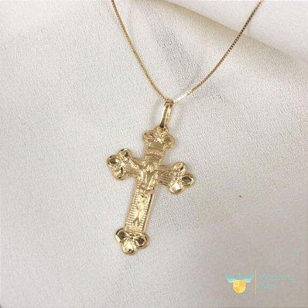 Pingente cruz em ouro amarelo 18k PC 2.68