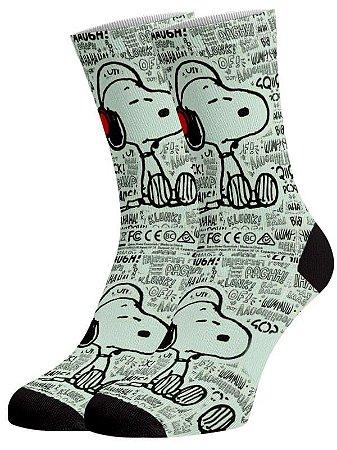 Snoopy Jornal meias divertidas e coloridas