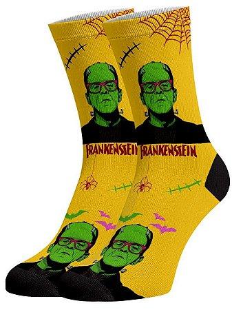 Frankenstein meias divertidas e coloridas