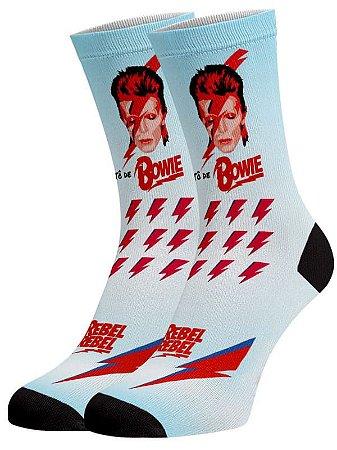 David Bowie meias divertidas e coloridas