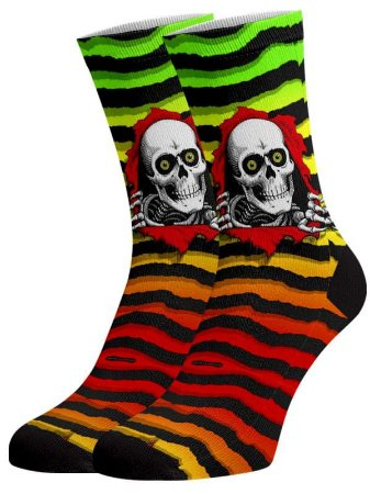 Caveira Halloween meias divertidas e coloridas