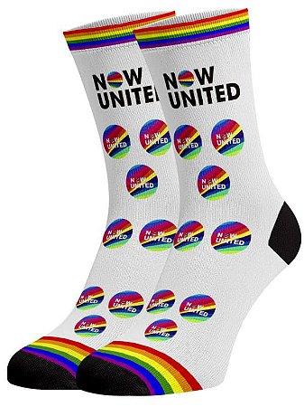 Now United meias divertidas e coloridas