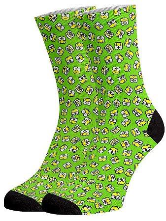 Sapos meias divertidas e coloridas