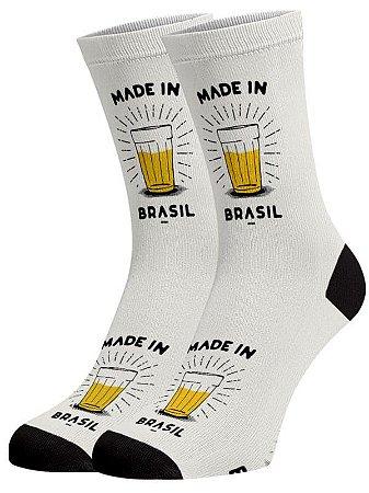 Made in Brasil meias divertidas e coloridas
