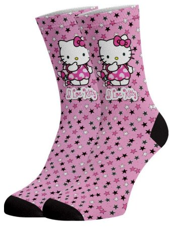 Hello Kit love meias divertidas e coloridas