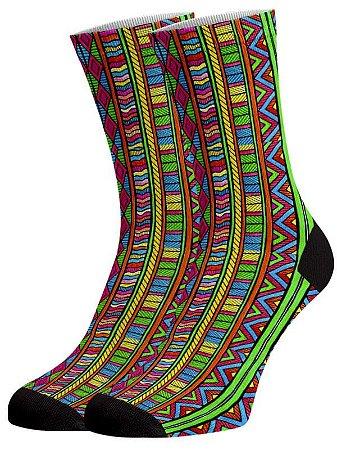 Africana meias divertidas e coloridas