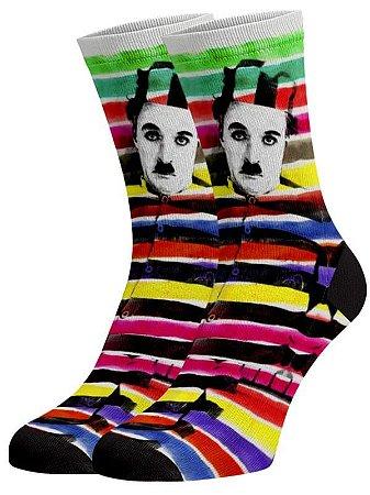 Chaplin meias divertidas e coloridas