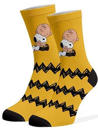 Snoopy e Charlie Brown  Meias Divertidas e Coloridas