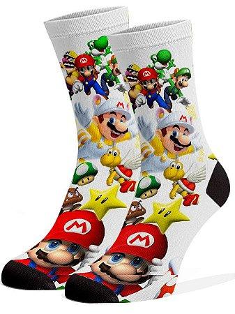 Mario  Bros Meias Divertidas e Coloridas