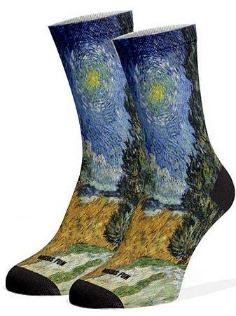 Van Gogh meias divertidas e coloridas