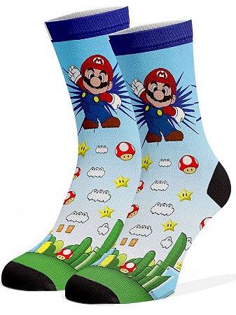 Mario e Luigi Meias Divertidas e Coloridas