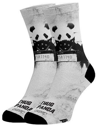Panda Thug meias divertidas e coloridas