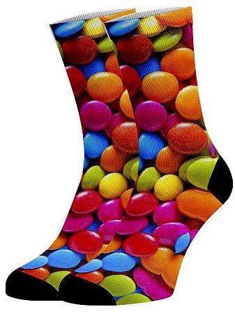 Meias Fun - Balas coloridas