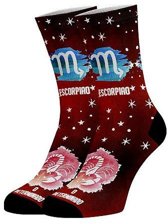 Escorpião Coleção Zodíaco meias divertidas