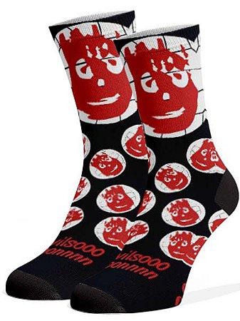 Wilson preta meias divertidas e coloridas
