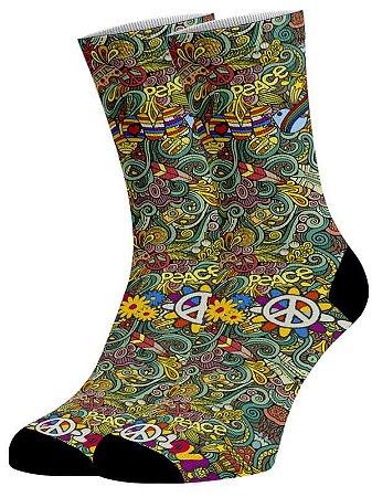 meias Fun - Woodstock Paz e Amor