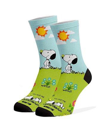 Meias Fun - Snoopy Jardim e Woodstock