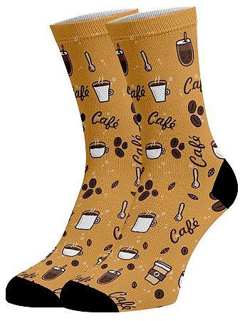 Café Forte meias divertidas e coloridas