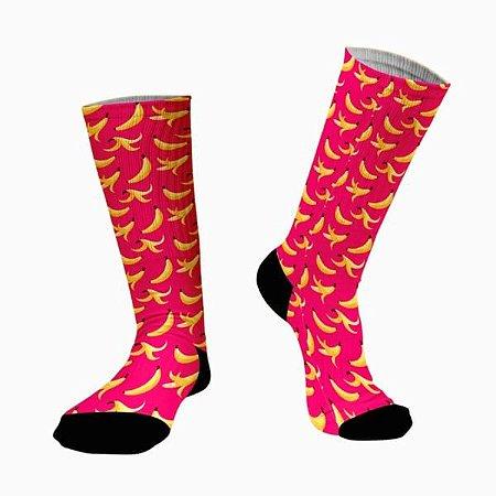 Meias Fun - Bananas Pink