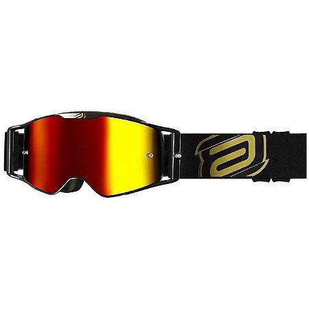 Oculos ASW A3 Class Preto Dourado