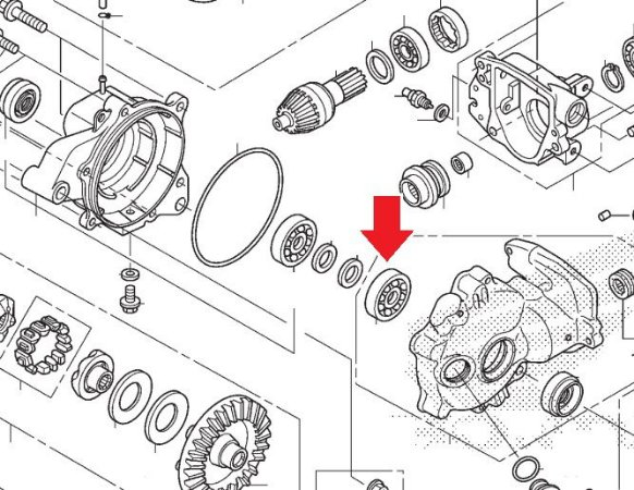 Rolamento Esfera 30x56x13 Cardan Dianteiro Fourtrax 2014 á 2021