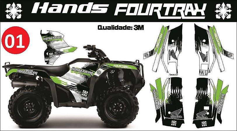 Kit Adesivo Honda Fourtrax (2014 até 2017)