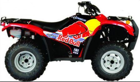 Kit Gráfico Honda Fourtrax 420 2007 até 2013 - RedBull