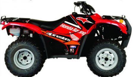 Kit Gráfico Honda Fourtrax 420 2007 até 2013 - Alpinestars Honda Racing