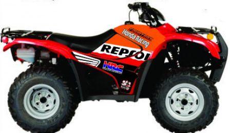 Kit Gráfico Honda Fourtrax 420 2007 até 2013 - Pepsol HRC