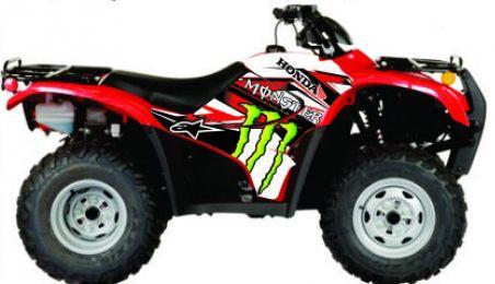 Kit Gráfico Honda Fourtrax 420 2007 até 2013 - Monster