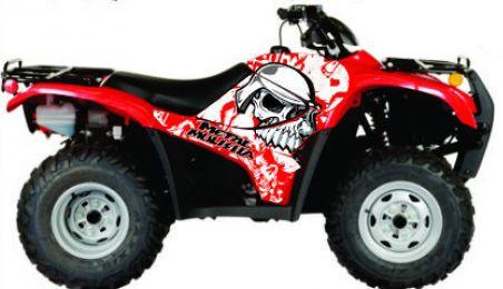 Kit Gráfico Honda Fourtrax 420 2007 até 2013 - Skull