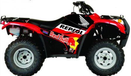 Kit Gráfico Honda Fourtrax 420 2007 até 2013 - Repsol/RedBull