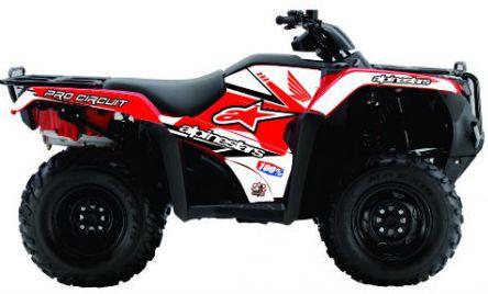 Kit Gráfico Honda Fourtrax 420 2014 até 2019 - Alpinestars