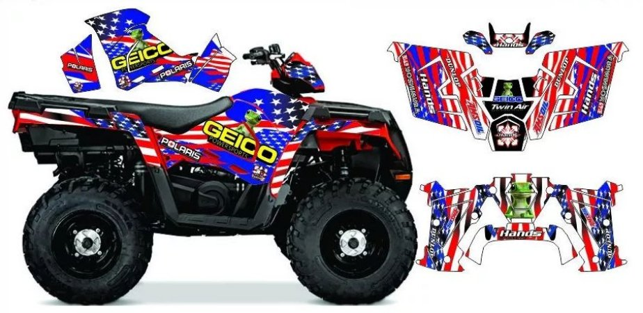 Kit Gráfico Polaris Sportsman 570 - Geico