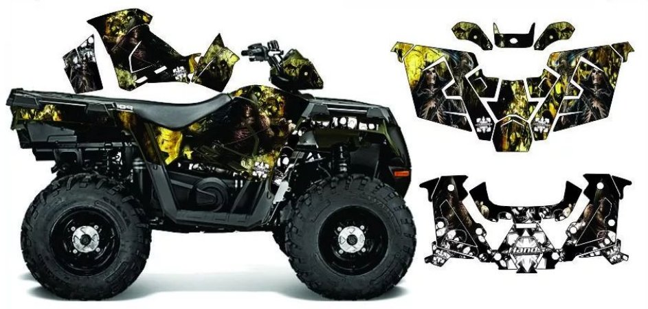 Kit Gráfico Polaris Sportsman 570 - Skull