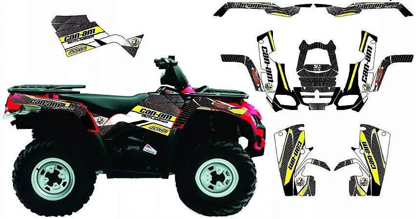 Kit Gráfico Can-am Outlander 400 2010 até 2014 - BRP Racing