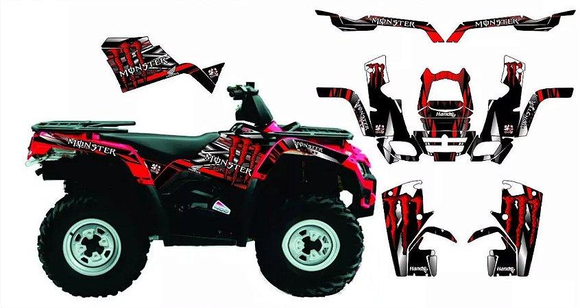 Kit Gráfico Can-am Outlander 400 2010 até 2014 - Monster 2