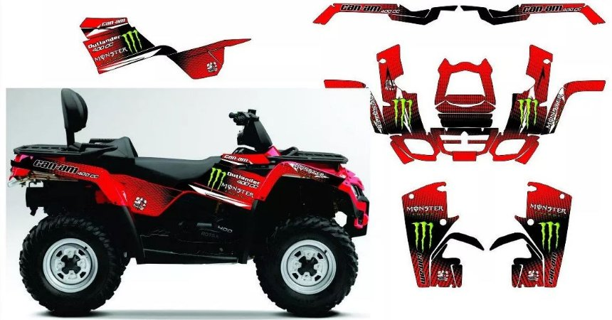 Kit Gráfico Can-am Outlander 400 Max - Monster