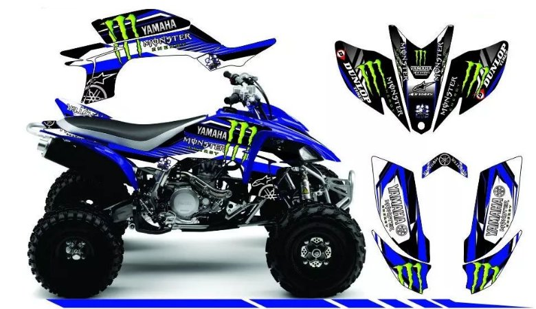 Kit Gráfico Yamaha YFZ 450R - Dunlop/Monster