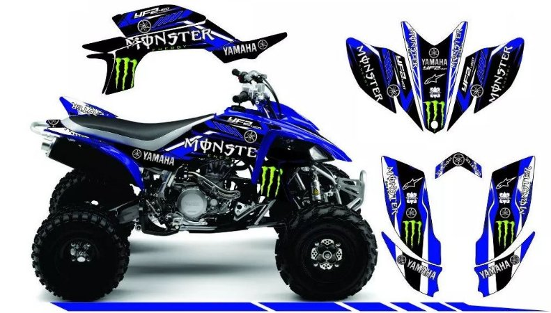 Kit Gráfico Yamaha YFZ 450R - Alpine/Monster