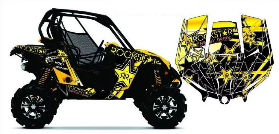 Kit Gráfico UTV Can-am Maverick 1000 - Rockstar