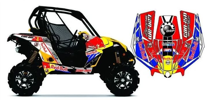 Kit Gráfico UTV Can-am Maverick 1000 - RedBull