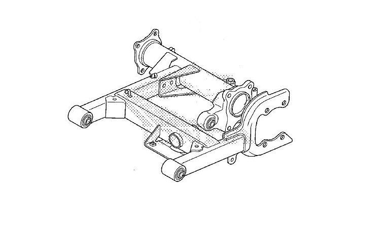 Conjunto Garfo Traseiro Honda Fourtrax (2014 Até 2018)