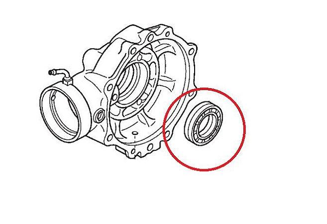 Rolamento Esfera 35x60x14 Transmissão Traseira Honda Fourtrax - (2014 até 2017)