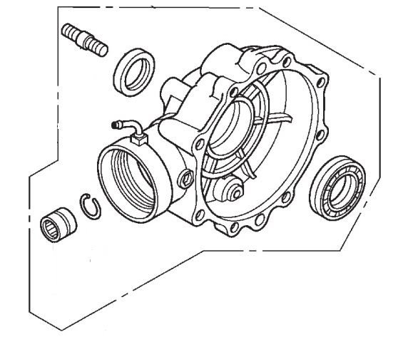 Subconjunto Tampa do Cardan Traseiro Honda Fourtrax 420 (2008 até 2013)