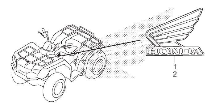 Adesivo Emblema Lado Esquerdo do Tanque de Combustível - Fourtrax (2017 até 2019)