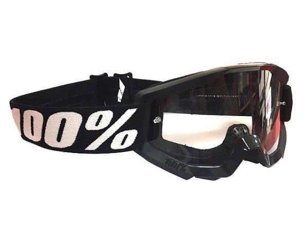 Óculos 100%  Lente transparente - Preto