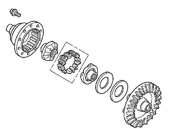Conj. Coroa Transmissão Dianteira Honda Fourtrax 420 (2014 até 2019)