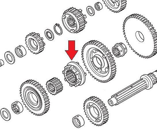Seletor Árvore Secundária Transmissão Honda Fourtrax 420 (2008 até 2021)